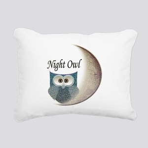 Night Owl Rectangular Canvas Pillow